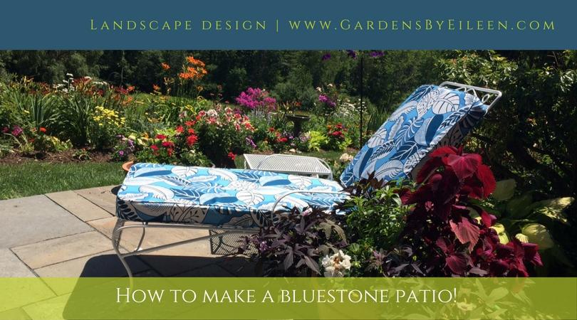 How to make a bluestone patio